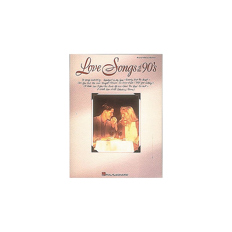 Hal LeonardLove Songs of The 90's Piano, Vocal, Guitar Songbook