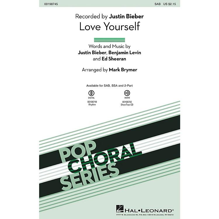 Hal LeonardLove Yourself SSA by Justin Bieber Arranged by Mark Brymer