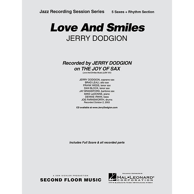 Second Floor MusicLove and Smiles (Saxophone Part) Jazz Band Level 4 Composed by Jerry Dodgion