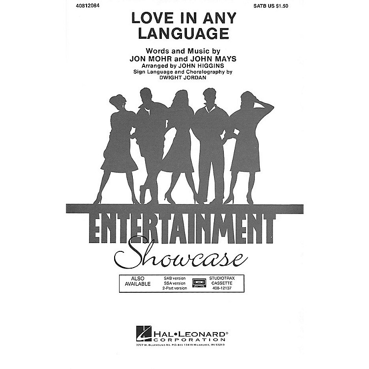 Hal Leonard Love in Any Language 2-Part by Sandi Patti Arranged by John Higgins