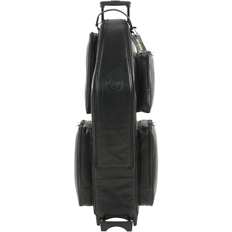 GardLow A Baritone Saxophone Wheelie Bag106-WBFLK BlackUltra Leather