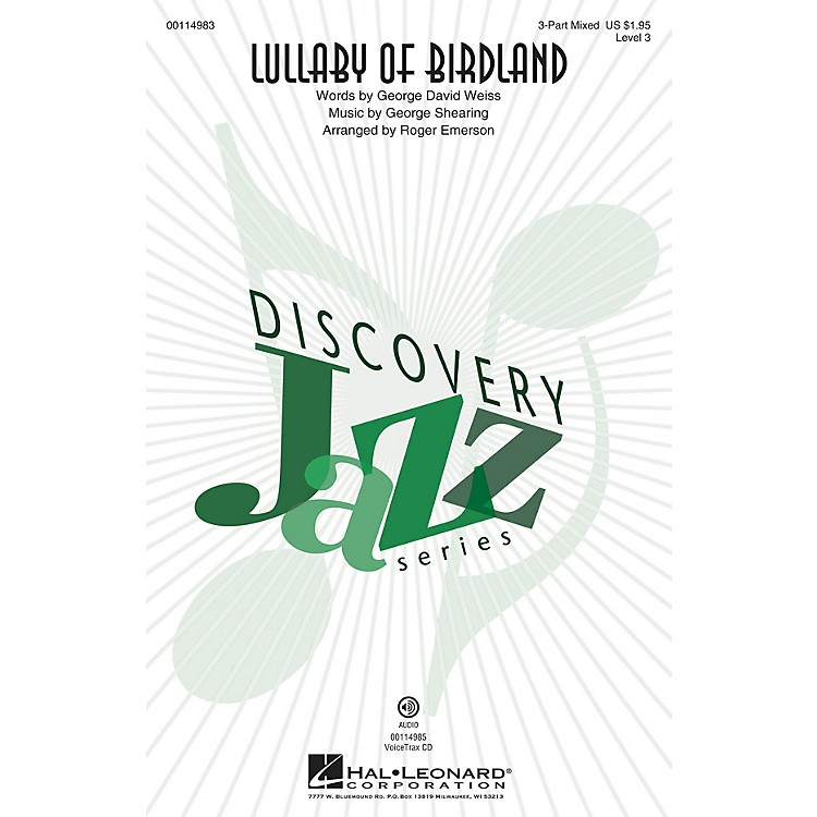 Hal LeonardLullaby Of Birdland (Discovery Level 3 2-Part) 2-Part Arranged by Roger Emerson
