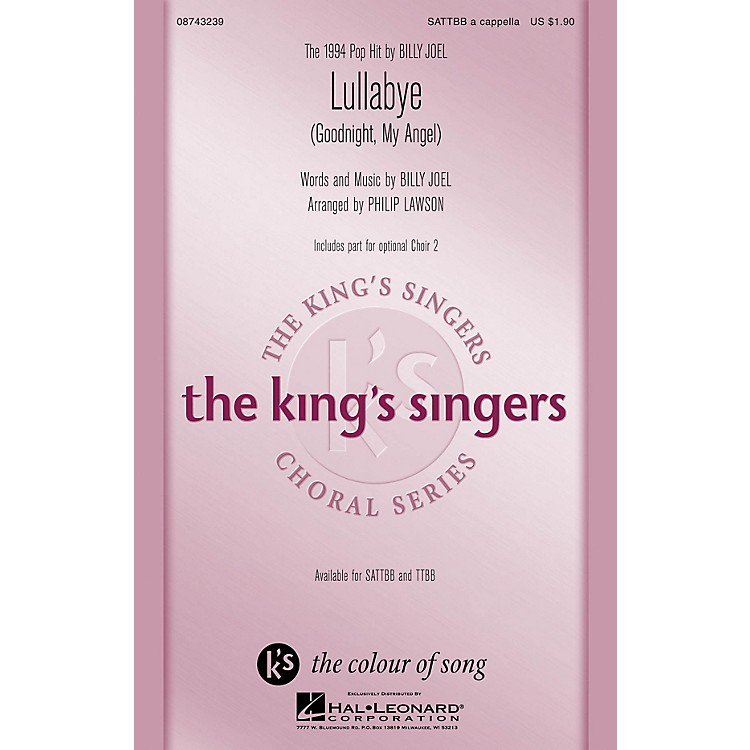 Hal LeonardLullabye (Goodnight, My Angel) SATTBB A Cappella by The King's Singers arranged by Philip Lawson