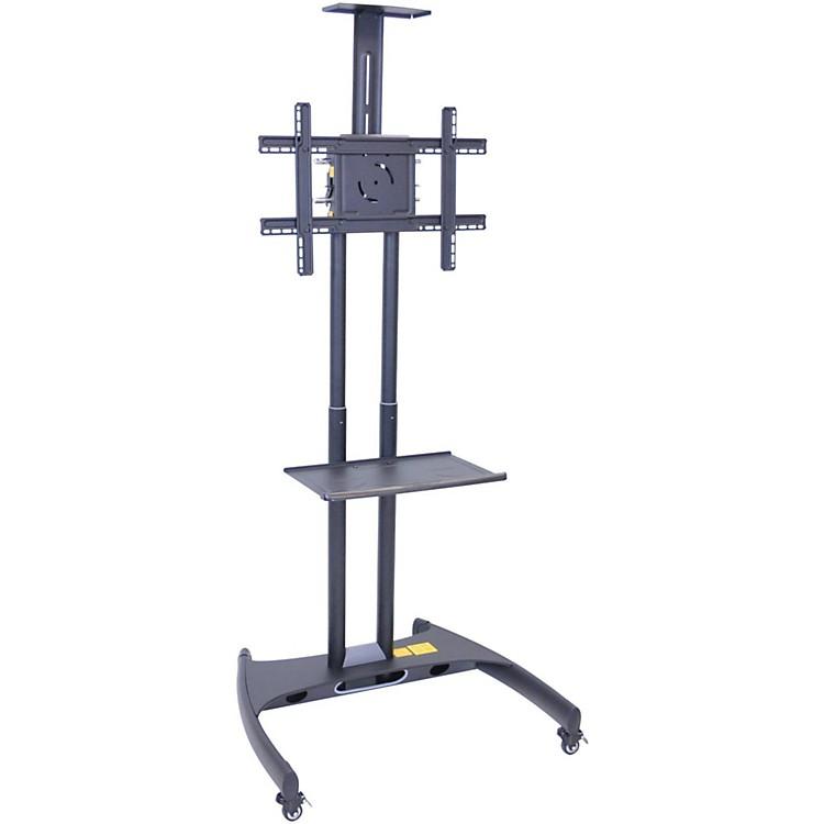 H. WilsonLuxor Adjustable Flat Panel Cart with Shelf and Camera Mount