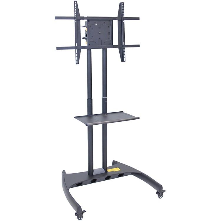 H. WilsonLuxor Adjustable Flat Panel Cart with Shelf and Rotating Mount
