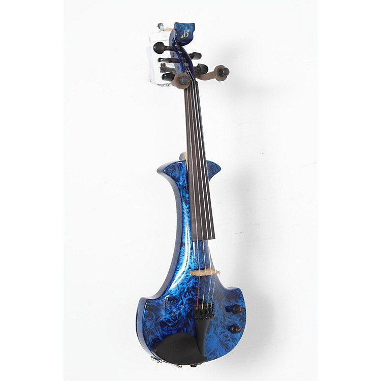 Bridge Lyra Series 5-String Electric Violin Blue Marble 888365904573