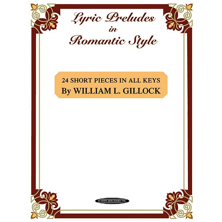 AlfredLyric Preludes in Romantic Style Intermediate/Late Intermediate Piano