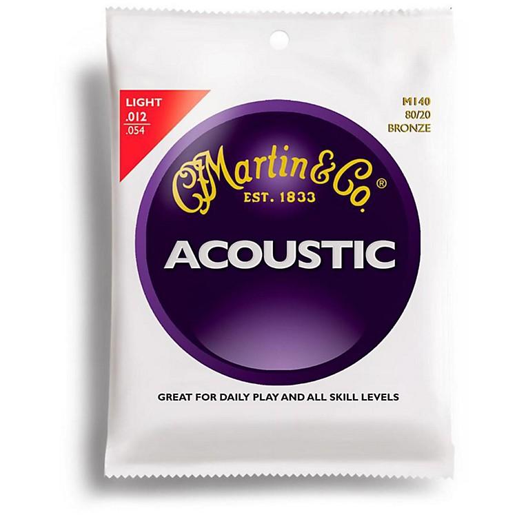 MartinM140 80/20 Bronze Light Acoustic Guitar Strings