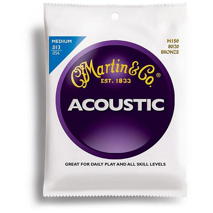 MartinM150 80/20 Bronze Medium Acoustic Guitar Strings