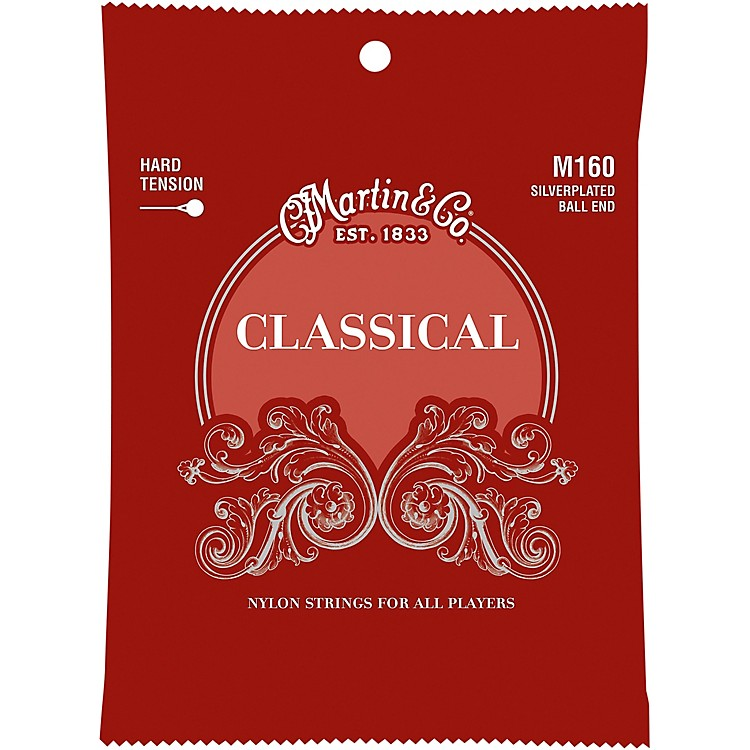 MartinM160 Classical Hard Tension Silverplated, Ball Ended Strings