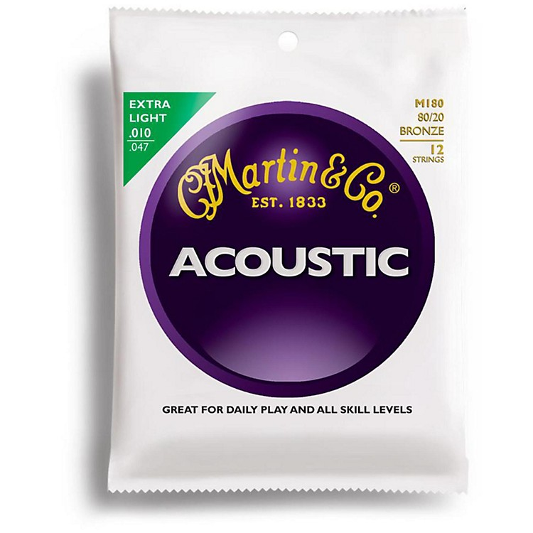 Martin M180 12-String 80/20 Bronze Extra Light Acoustic Guitar Strings