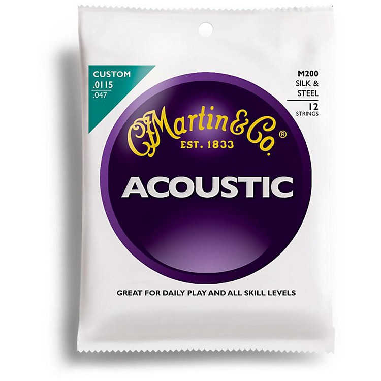 Martin M200 12-String Silk and Steel Custom Acoustic Guitar Strings