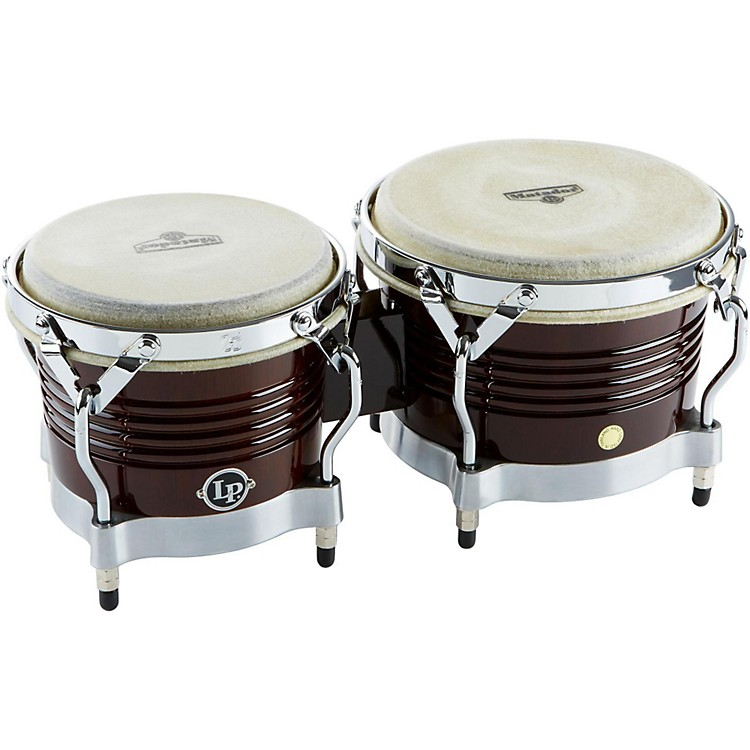 LP M201 Matador Wood Bongos Dark Brown