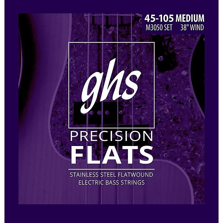 GHSM3050 Precision Flatwound Bass Strings Medium