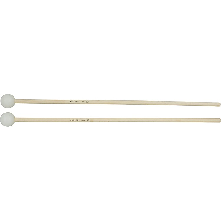 MusserM4225 Medium Hard White Poly Ball Mallets