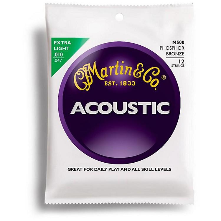 MartinM500 12-String Phosphor Bronze Extra Light Acoustic Guitar Strings