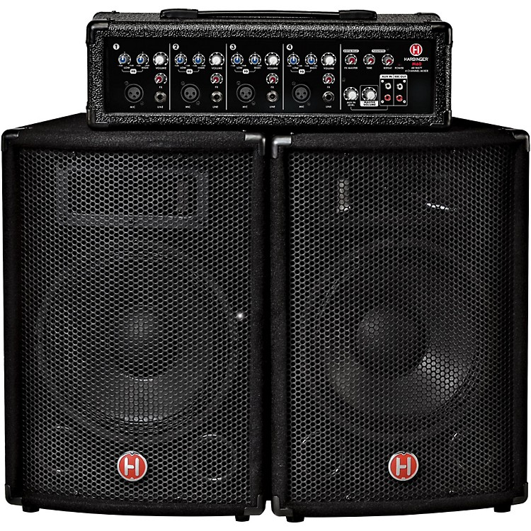 Harbinger M60 60-Watt, 4-Channel Compact Portable PA with 10 in. Speakers  888365892764