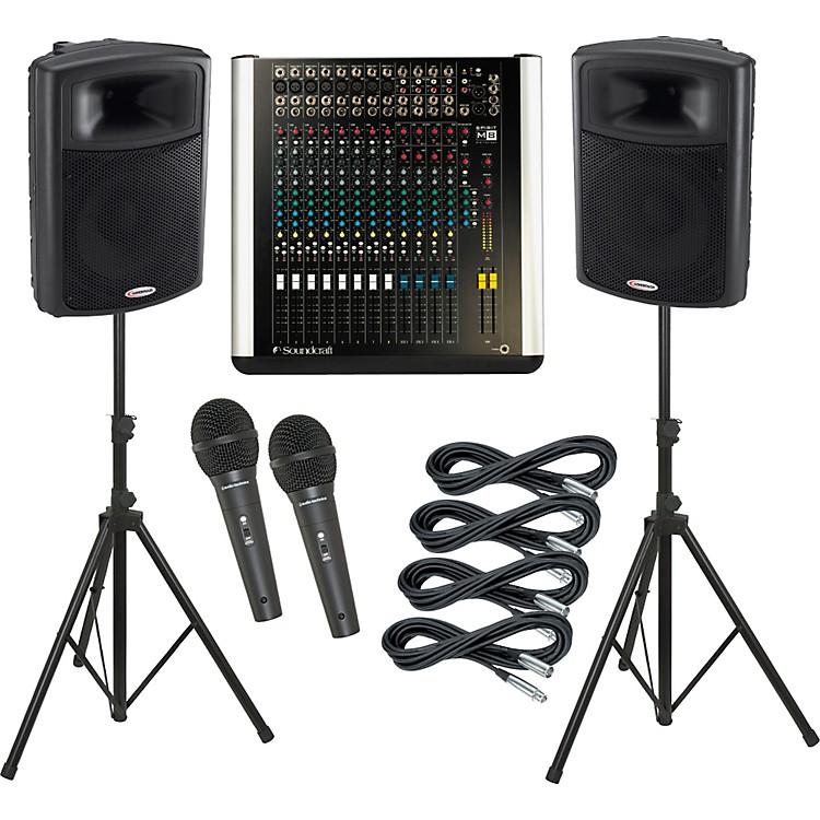 SoundcraftM8 / Harbinger APS15 PA Package