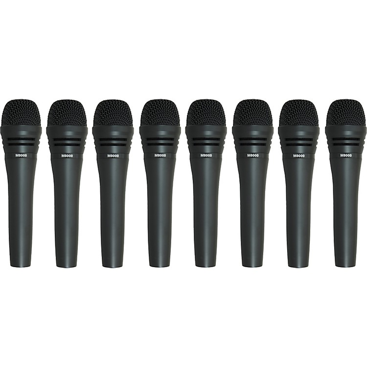 Audio-Technica M8000 Dynamic Mic 8 Pack