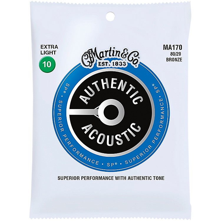 MartinMA170 Authentic Acoustic 80/20 Bronze Extra Light Guitar Strings