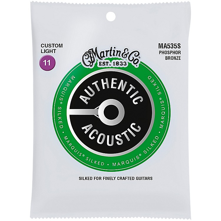 MartinMA535S Marquis Phosphor Bronze Custom-Light Authentic Silked Acoustic Guitar Strings