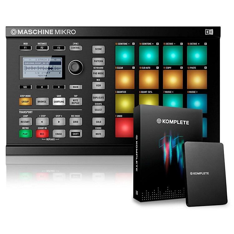 Native Instruments MASCHINE MIKRO MK2 with KOMPLETE 11 Black