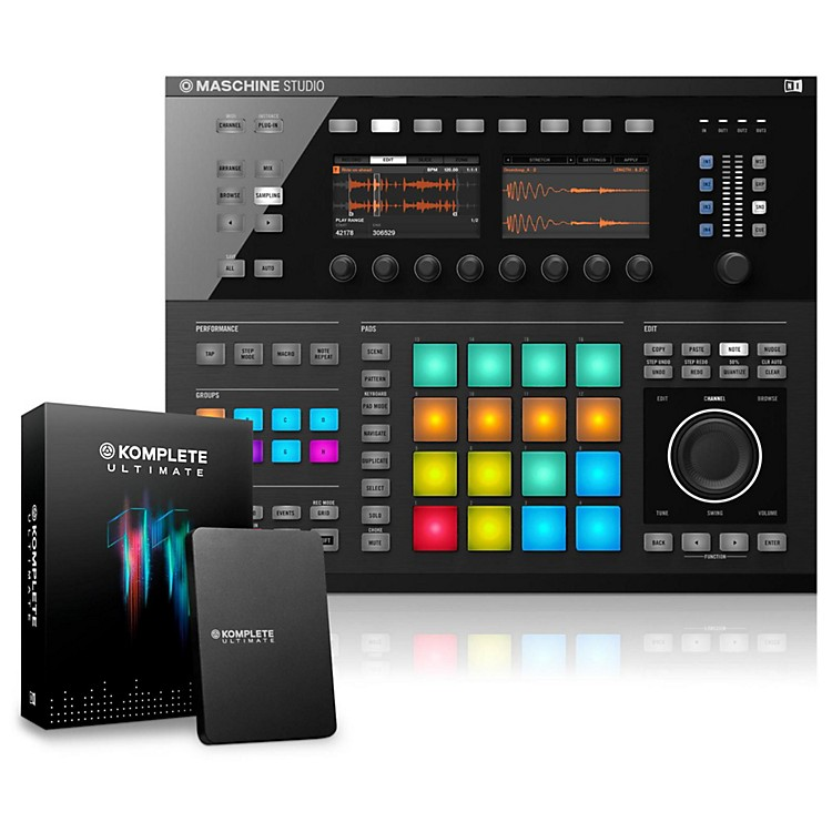Native Instruments MASCHINE STUDIO with KOMPLETE 11 Ultimate Black