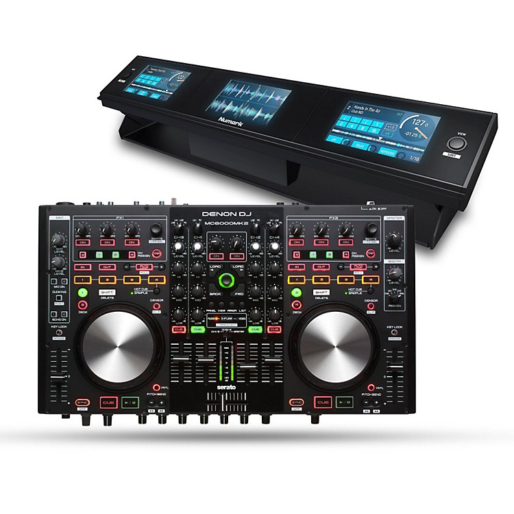 DenonMC6000Mk2 Digital Mixer and Controller with Dashboard 3-Screen Display