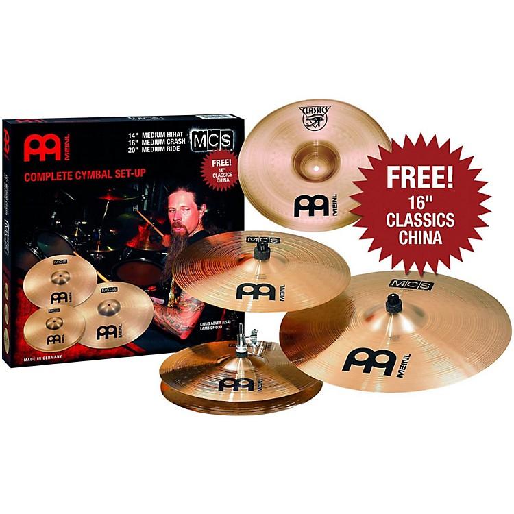 MeinlMCS 3-Cymbal Set + Free 16 Inch China