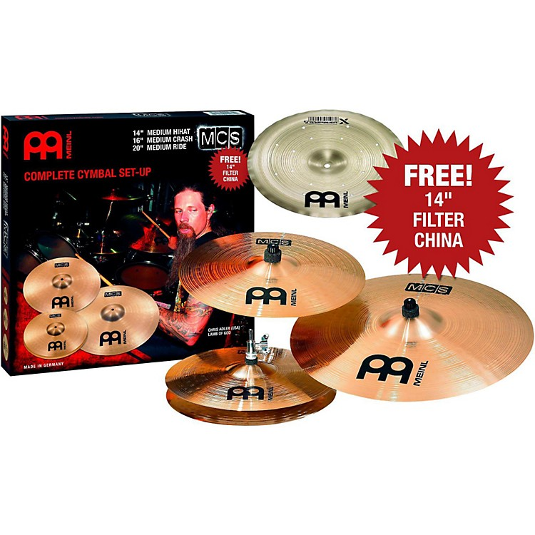 Meinl MCS Cymbal Pack with Free Filter China  888365846996