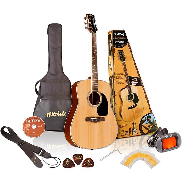 MitchellMD100PK Dreadnought Acoustic Guitar PackNatural