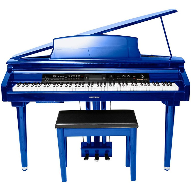 Suzuki MDG-300 Cobalt Blue Micro Grand Digital Piano