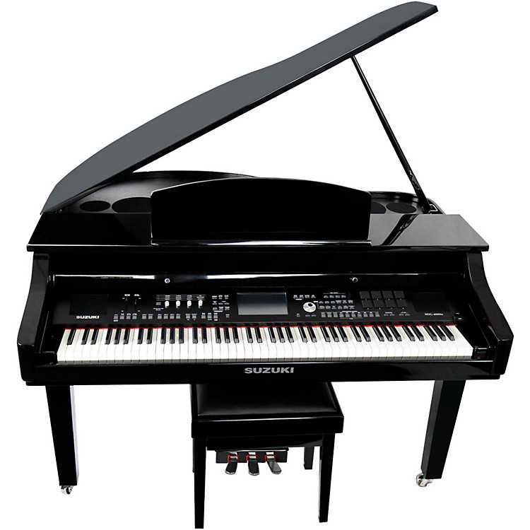 Suzuki MDG-4000ts TouchScreen Baby Grand Digital Piano Black
