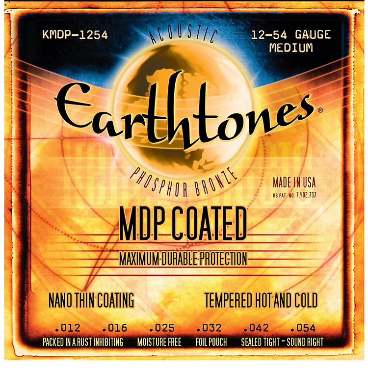 Kerly Music MDP Earthtones PB Medium Coated Acoustic Guitar Strings
