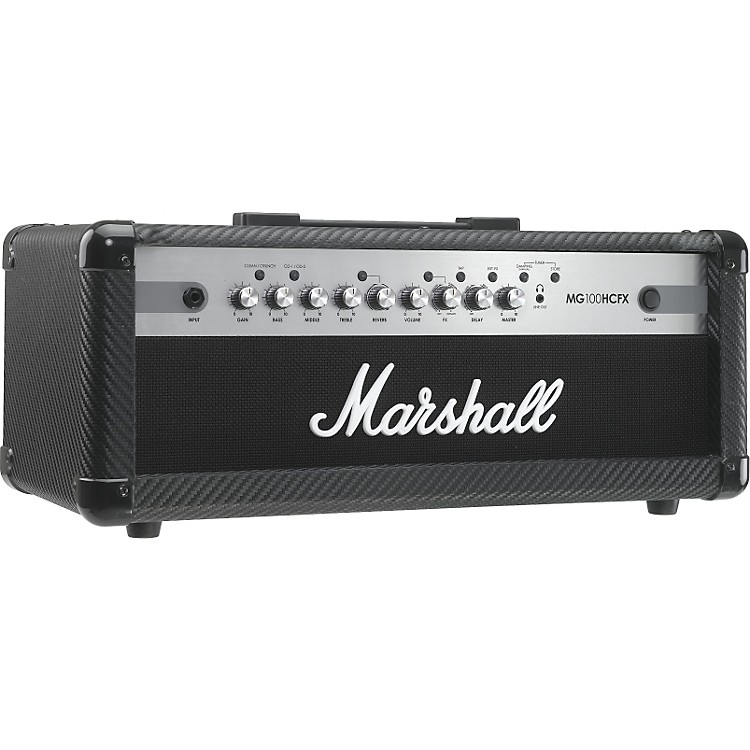 Marshall MG Series MG100HCFX 100W Guitar Amp Head Carbon Fiber