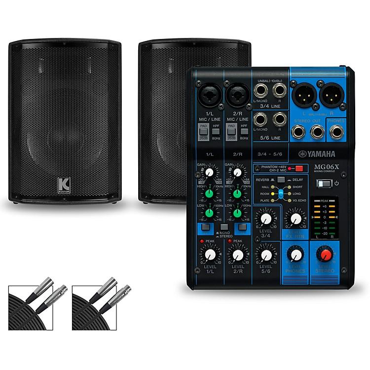 YamahaMG06X Mixer and Kustom HiPAC Speakers12