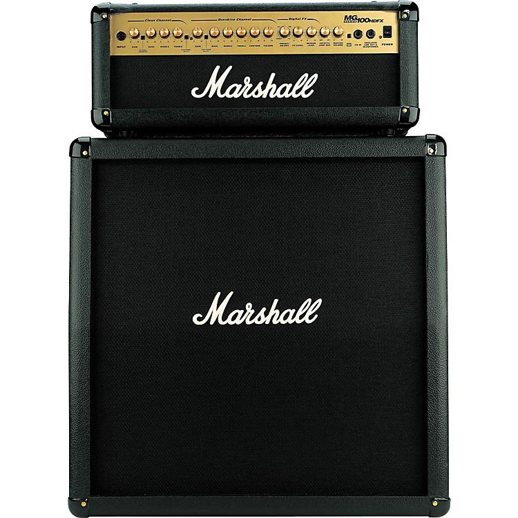 marshall mg100hdfx mg412 slant cab half stack package music123. Black Bedroom Furniture Sets. Home Design Ideas