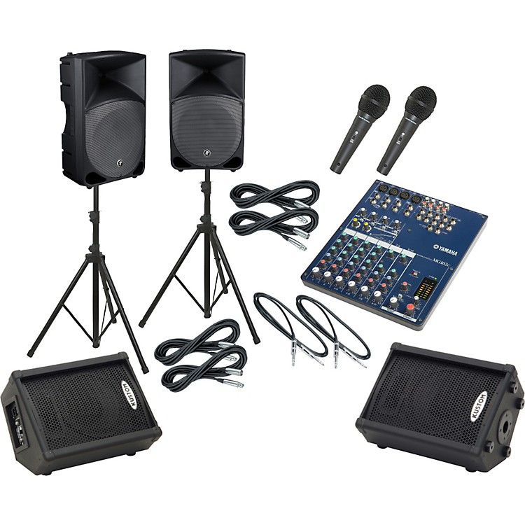 Yamaha MG102C / Thump TH-15A Mains & Monitors Package