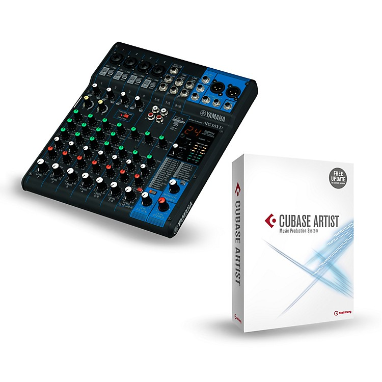 yamaha mg10xu 10 channel mixer with cubase artist music123. Black Bedroom Furniture Sets. Home Design Ideas
