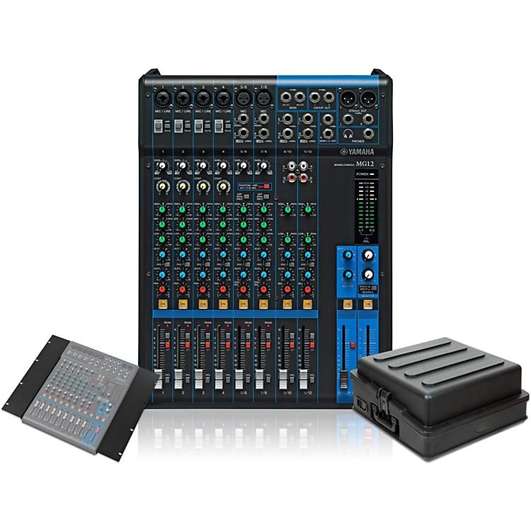 YamahaMG12 Mixer with Rackmount Kit and Case