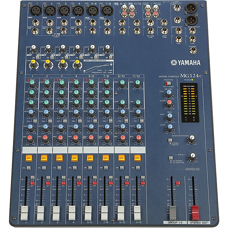 YamahaMG124C 12-Input Stereo Mixer with Compression
