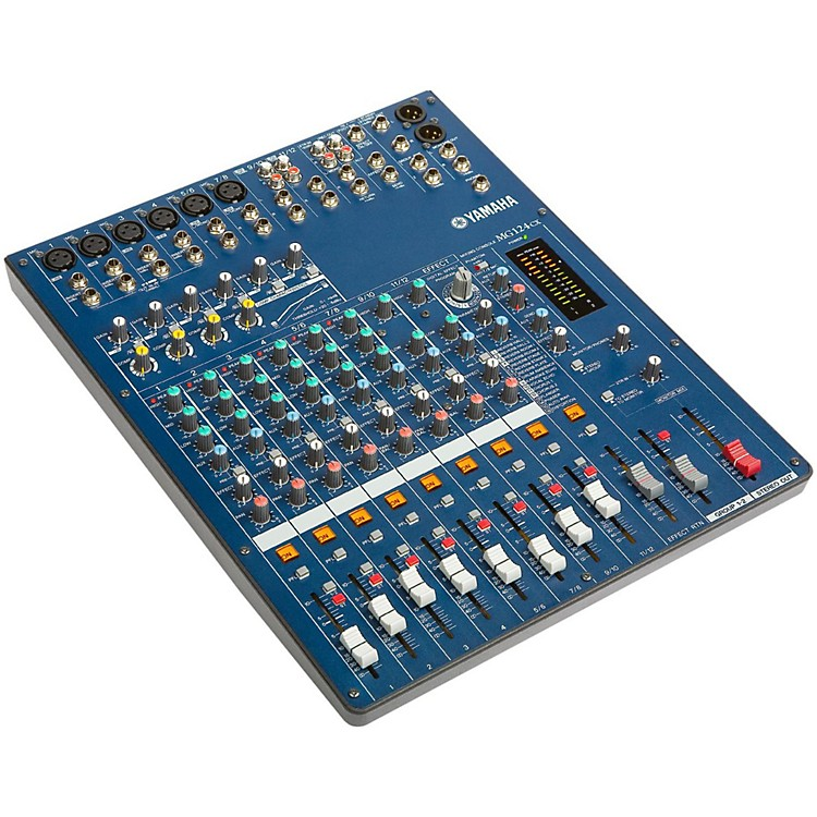 YamahaMG124CX 12-Input Stereo Mixer with Compression and Effects