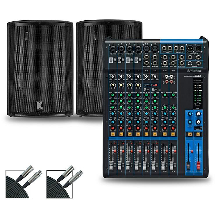 YamahaMG12XU Mixer and Kustom HiPAC Speakers12