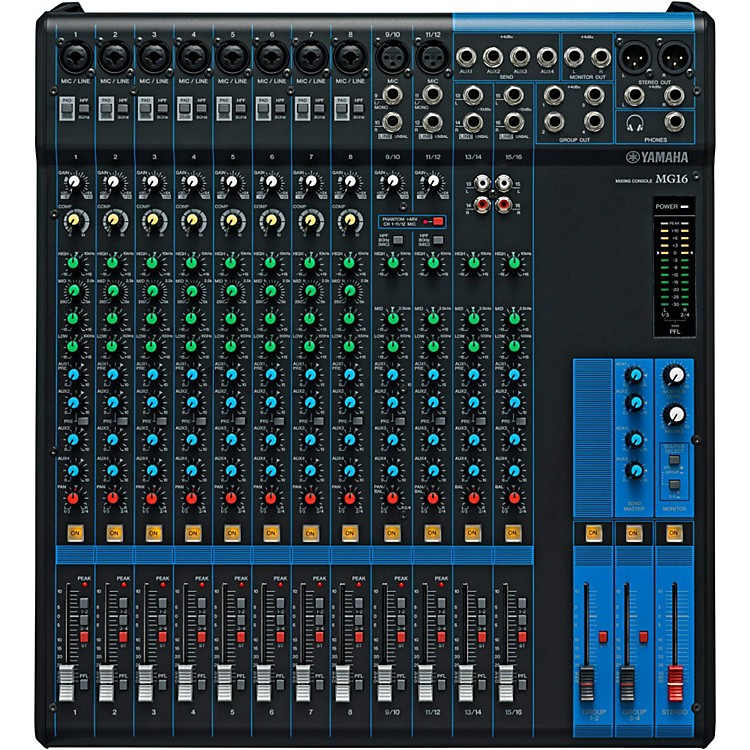 YamahaMG16 16-Channel Mixer with Compression
