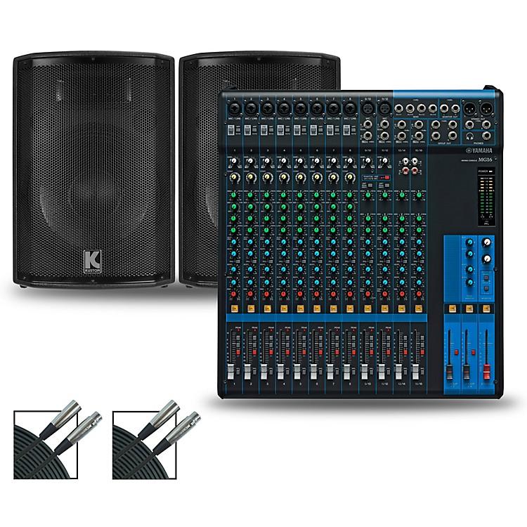 YamahaMG16 Mixer and Kustom HiPAC Speakers12