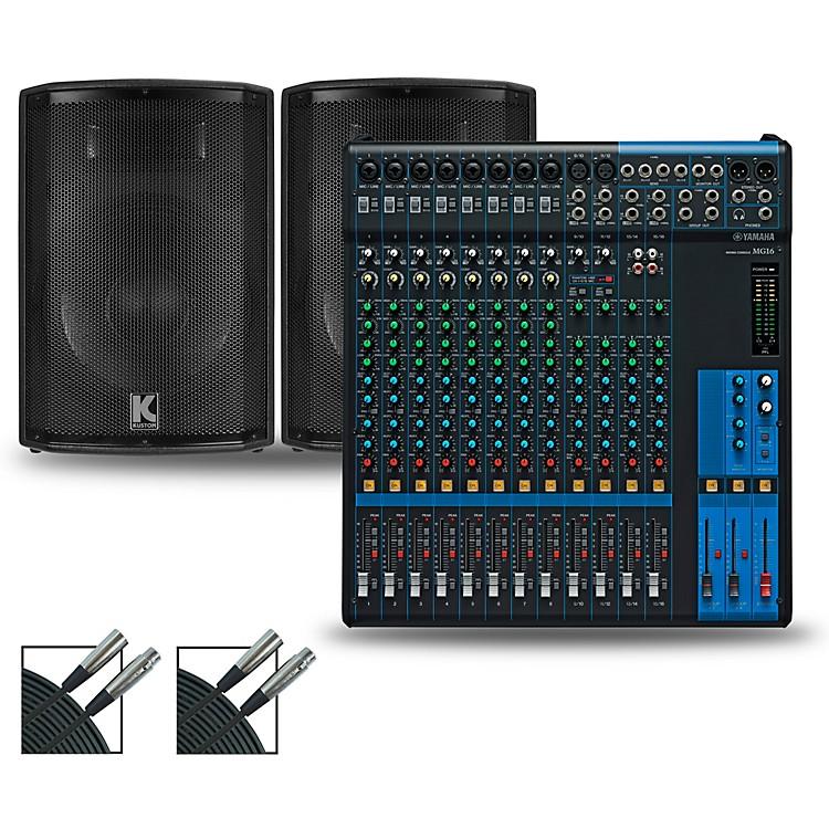 YamahaMG16XU Mixer and Kustom HiPAC Speakers12