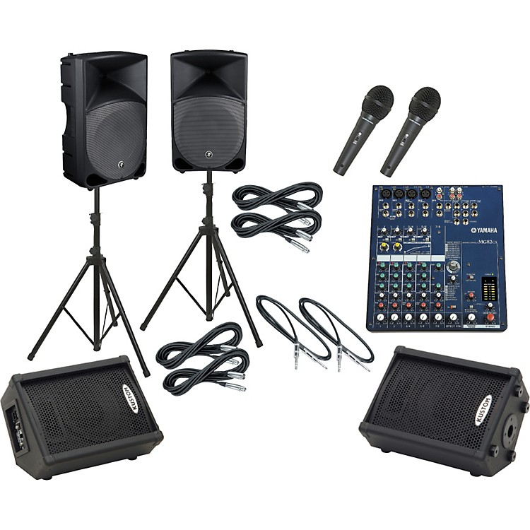 Yamaha MG82CX / Thump TH-15A Mains & Monitors Package