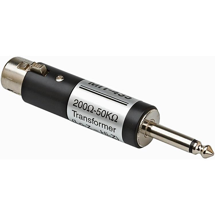 HosaMIT435 XLR Female LO-Z to 1/4in TS Male HI-Z Microphone Input Impedance Transformer