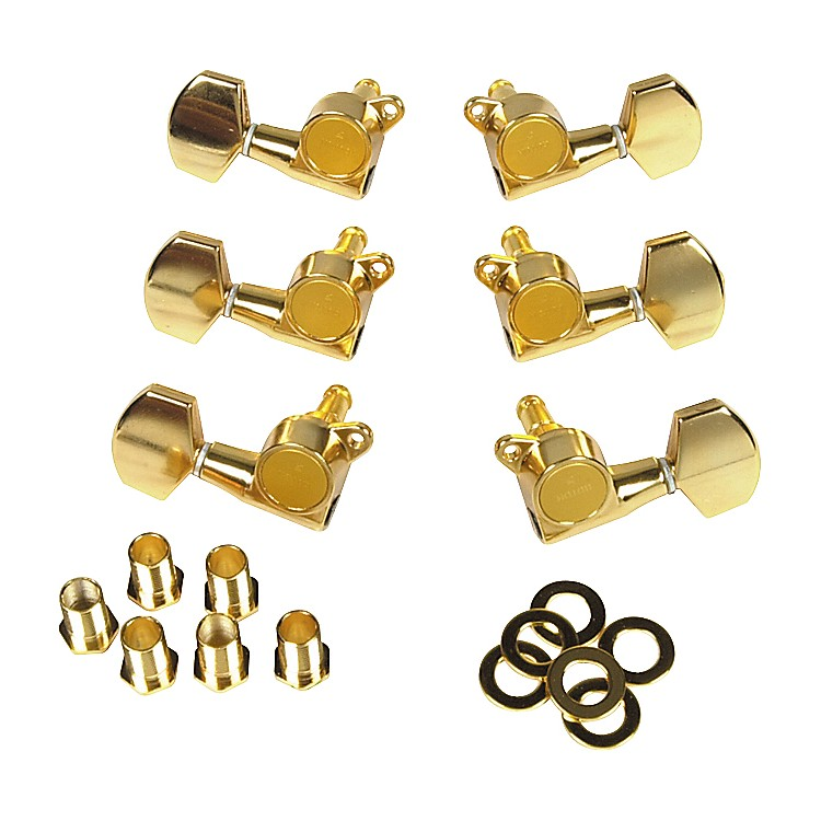 GotohMLB3-G 3-On-A-Side Locking Tuners 6-PackGold