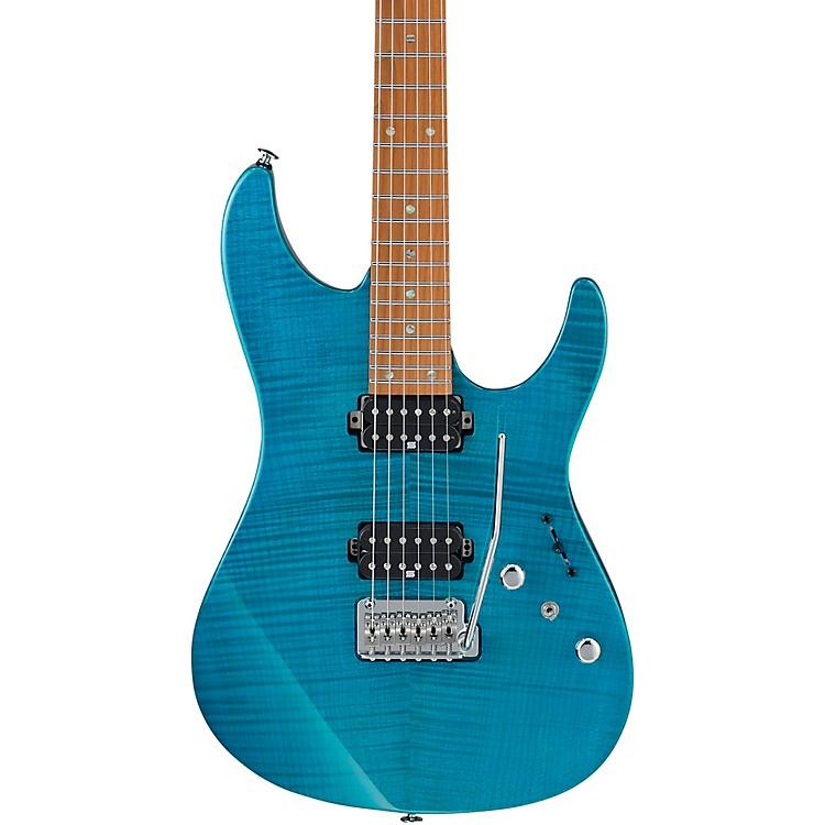 IbanezMM1 Martin Miller Signature Electric GuitarTransparent Aqua Blue